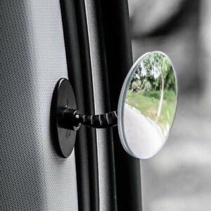 360° Car Blind Spot Side Mirror Stick On Glass Adjustable Safety Lens Universal!