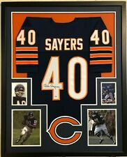 FRAMED CHICAGO BEARS GALE SAYERS AUTOGRAPHED SIGNED JERSEY PSA COA