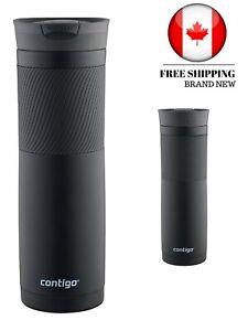 Contigo SnapSeal Byron Vacuum Insulated Stainless Steel Travel Mug, 24oz, Black