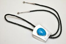 Signed PCB 93 Sterling Silver with Turquoise Stone Bolo Tie!