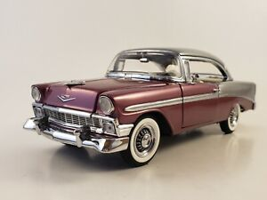 "Franklin Mint 1956 Chevrolet Bel Air ""PLUM & GRAY"" Vicki's Gift Exc. LE 666/750"