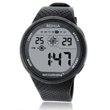 BEIHUA Men Sports Watch Boy Digital Self Calibrating WR100M Swim outdoor Watch