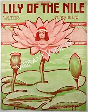 Lily Of The Nile Waltzes By A.Phillips Art By Andre De Takacs 1910 Sheet Music