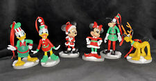 Disney Mickey Mouse Christmas Holiday Collection Ornament Set Minnie Goofy Pluto