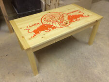 BESPOKE CARVED JAGER BOMBER COFFEE TABLE MAN CAVE LADY CAVE GAMES ROOM