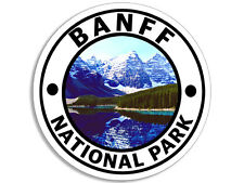 4x4 inch Round BANFF National Park Sticker - decal canada calgary travel rv cold