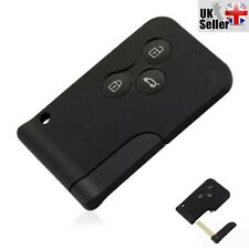 Replacement Fits Renault Megane Scenic 3 button Key Card Shell/Case +Blank Blade