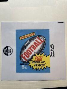 1969 Scanlen's Football VFL Cards Gum Wax Wrapper Print