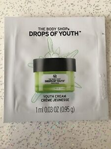 New The Body Shop Drops of Youth Cream 1ml Sachet Sample Youthful skincare