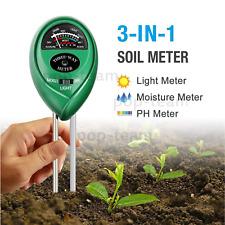 3-in-1 Garden Lawn Plant Moisture Light PH Meter Soil Tester Kits Indoor/Outdoor