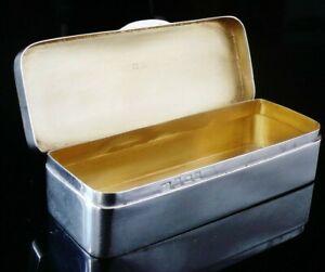 Antique Silver Snuff Box, Birmingham 1918, Lawrence Emanuel