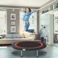 40In Mini Kids Trampoline With Handles For Age 3-9 Indoor Or Outdoor Play