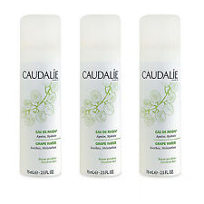 SET OF 3 CAUDALIE Grape Water Soothes Moisturizes 75ml Organic Toners NEW#6178_3