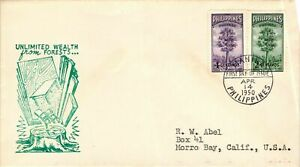 1950 Philippines Unlimited Wealth from Forest First Day Cover