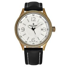 Revue Thommen Men's Airspeed Vintage Leather Strap Automatic Watch 17060.2589