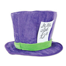 Alice In Wonderland Party Costume Accessory Plush Fabric MAD HATTER HAT