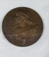 Antique Bronze French  Dog Show Medal Sociètè de Canine de Sud Est June 2-3,1923