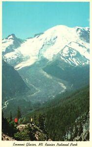 Vintage Postcard Mt Rainier National Park Washington State Emmon Glacier
