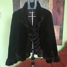 Real Sheared Mink Fur Short Coat/Jacket Brown Size 14 Made in Canada (Neiman Mar