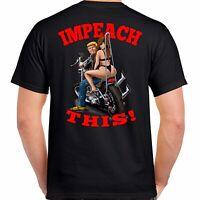 Donald Trump 2020 Tee Shirt Impeach This !  Keep America Great !