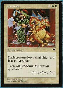 Humility Tempest HEAVILY PLD White Rare MAGIC MTG CARD (ID# 204585) ABUGames
