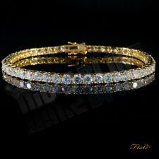 9ct 14K Yellow White Gold Finish Diamond Womens Bracelet Tennis Bracelet Wedding
