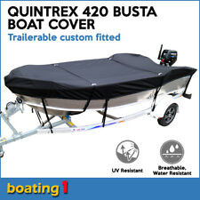 Quintrex 420 BUSTA Trailerable custom fitted boat cover open boat black