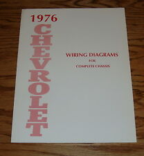 1976 Chevrolet Passenger Car Wiring Diagrams Complete Chassis 76 Chevy
