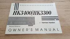 Originale HarmanKardon Bedienungsanleitung für HK3400/HK3300 12 Monate Garantie*