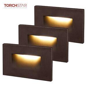 TORCHSTAR Indoor & Outdoor LED Step Light, ETL Listed, Oil Rubbed Bronze, 3-PACK