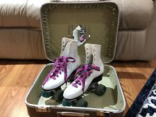 New listing Roller Derby Vintage Girls Womens Skates With Case Key White