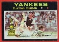 1971 Topps #5 Thurman Munson EX-EX+ WRINKLE New York Yankees FREE SHIPPING