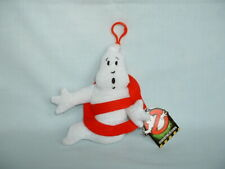 GHOSTBUSTERS LOGO ICON GHOST Soft Plush Keyfob Bag Clip Toy With Tag HALLOWEEN/2