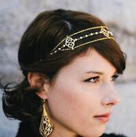 New Elegant Metal Rhinestone Head Chain Jewelry Headband Head Piece Hair band