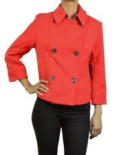 NEW G.E.T. WOMENS PEA COAT, SHORT,  ORANGE, SIZE SMALL, MSRP 190