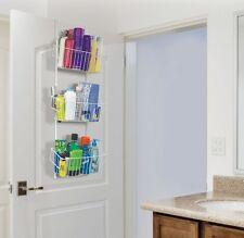 Overdoor Storage Basket Organizer Hanging Kitchen Bath Closet Removable Baskets