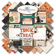 "Trick or Treat 10"" Fabric Squares Stacker/Carta Bella/Penny Rose Fabrics, 42 pcs"
