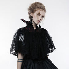 Punk Rave WY-834 Lace Shrug Silent Dance With Queen Victorian Collar Black Red