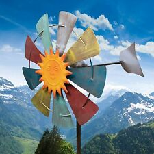 Vintage Wind Mill Spinner Kinetic Outdoor Lawn Garden Decor Patio Stake Yard Art