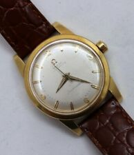 18k Yellow Gold Vintage Omega Automatic Seamaster Watch With 352 Bumper Movement