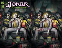 Joker 80th Anniversary - Ryan Brown - Trade/Virgin Variant Set - DC