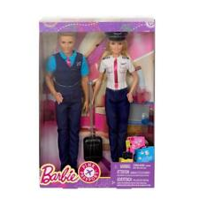 Barbie Pink Passport Pilot & Ken Flight Attendant Dolls 2 Pack NIB