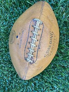 Antique Old 1950s ALL Leather SPALDING Football Vintage PAUL BROWN official Size