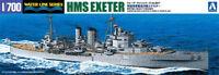 AOSHIMA BRITISH HEAVY CRUISER HMS EXETER 1/700 MODEL KIT FROM JAPAN