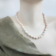 Natural Pink Baroque Freshwater Pearl,Classic Great Gatsby Pearl Necklace- 45 cm