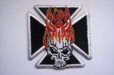 Biker-aufnäher  Iron Cross burning skull ca 7x7 cm