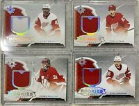2019-20 ULTIMATE 4x RED WINGS ROOKIE JERSEY LOT KUFFNER SMITH HIROSE FULCHER 399