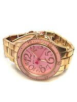 Betsey Johnson Ladies Rose Gold Tone Quartz Watch