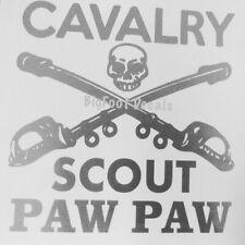 Cavalry Scout Decal Paw Paw Grandpa Poppy Us Army Military car truck Sticker