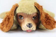 Vtg 30s 40s Rubber Face Gund Plush Dog Sleep Open Close Eyes Stuffed TOY animal